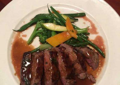 Steak at Le Fontane Restaurant