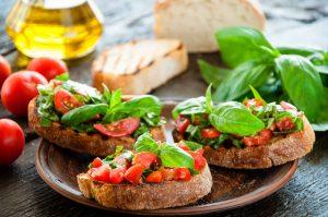 bruschetta at Le Fontane Restaurant