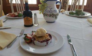 Dessert at Le Fontane Restaurant