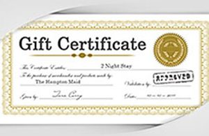 Gift Certificates at Le Fontane Restaurant