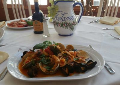 Seafood at Le Fontane Restaurant