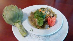 Artichoke dish at Le Fontane Restaurant