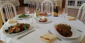 Dinner at Le Fontane Restaurant